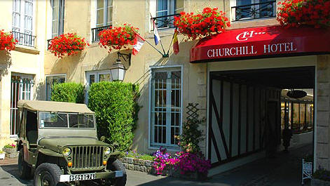 Fil Franck Tours Hotels In Normandy Hotel Churchill