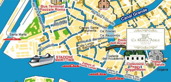 Fil Franck Tours Hotels In Venice Hotel Ca' Maria Adele: Map Of Venice Showing Hotels At Infoasik.co
