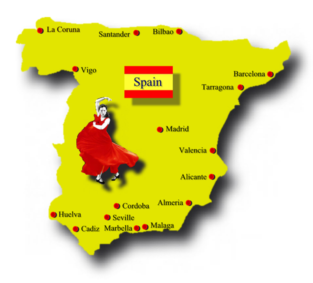 Travel Between Spain And France - Map of france and spain